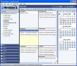 MDaemon's WorldClient: Calendar screen shot